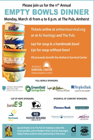 11th Annual Empty Bowls Dinner