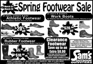 Spring Footwear Sale