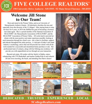 Welcome Jill Stone to Our Team