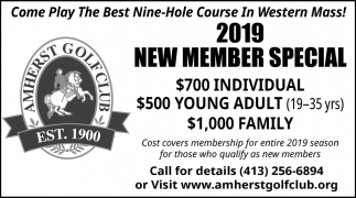 2019 New Member Special