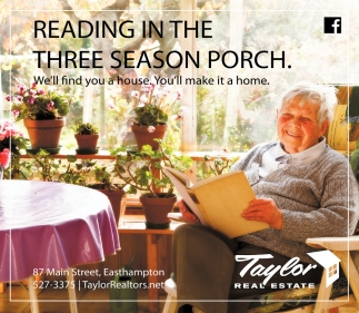Reading in the Three Season Porch